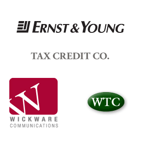 Ernst & Young, Tax Credit Company, Wickware Communications, Whittier Trust Company, Brentwood Associates