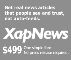 XapNews: $499 One simple form. No press release required.