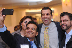 Sylvia Flores, Kailesh Karavadra, Mayor Sam Liccardo and Edward Avila take a selfie.
